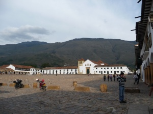 Villa de Leyva's lovely cobblestone plaza.