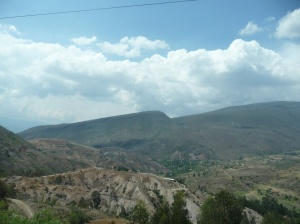 Views from the bus heading toward Bogotá.