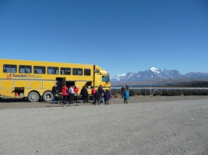 Views of Torres Del Paine over lunch.
