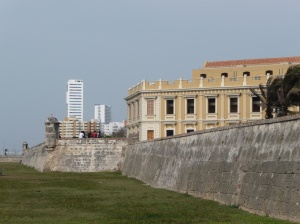 The wall is a great place for tourists and locals to catch the sea breeze