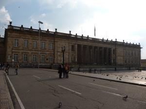 Congress on Plaza de Bolívar