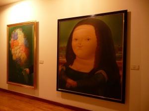 Botero's take on Mona Lisa.