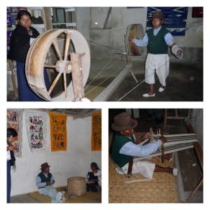 Textile demonstration in Carabuela