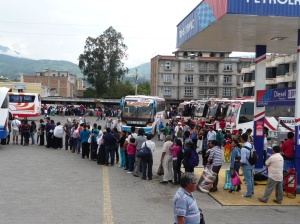 Orderly chaos at the Otavalo bus station