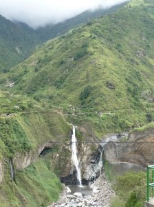 The waterfalls visited on the chiva