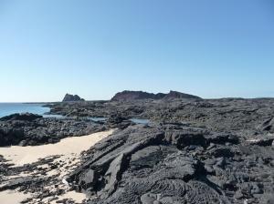 Santiago Island - lava flows