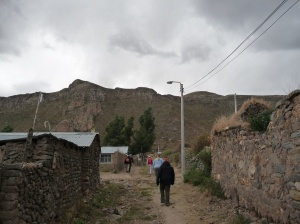 A short walk to view the Colca Valley from our village of Coparaque