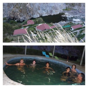 Chilling at the thermal springs