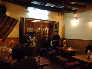 "A bit of restaurant busking ""...Pachamama..."""