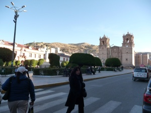 Puno plaza and Cathedral