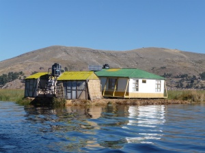 Medical Centre on Uros Islands, Lake Titicaca