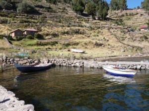 Arriving at Taquile Island