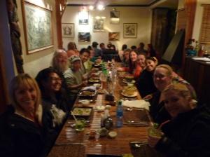 Farewell dinner, La Paz