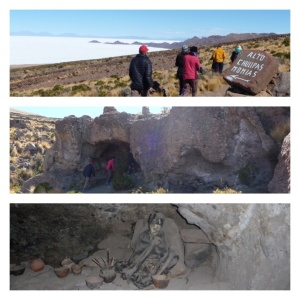 Cave of mummies on Volcan Thunupa