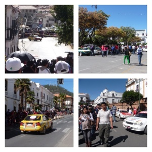 Annual car rally on the streets of Sucre