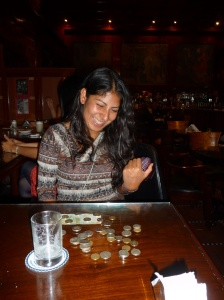 Kristina on Pisco sour collection duty!