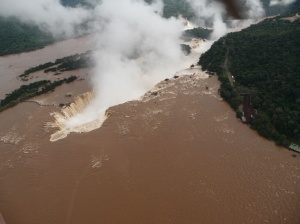Iguacu Falls from the helicopter