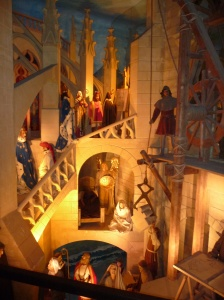 Wax figures depicting life in the Abbey