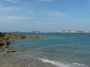 Saint-Malo from across the bay