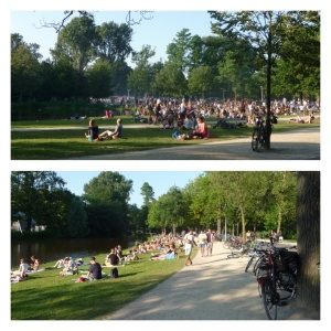 Vondelpark full of picnickers
