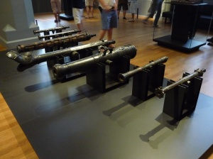 Ship canons from Dutch wars in the Indies