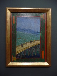 Van Gogh's works influenced by Japanese prints - Bridge in the rain