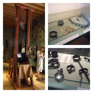 Some instruments of torture (original blade in guillotine)