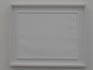 No it's not a blank canvas - look deeper into this fascinating piece of art!?!?