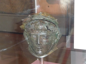 Ribchester helmet from the Roman Empire found by a young boy while playing in 1796.