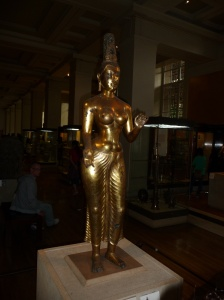Tara, solid bronze Buddhist sculpture (900AD) found in 1839.