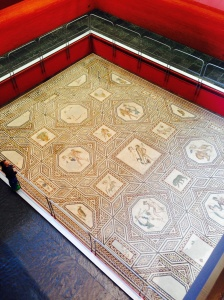 Dionysus Mosaic found during bomb shelter construction