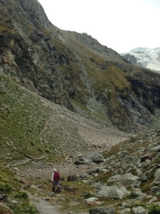 The final part of the climb to get to Cabane de Moiry.