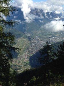 A different perspective of Martigny.