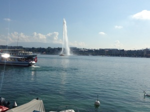 Jet d'eau with its 140m high spurt - visible for 100kms.