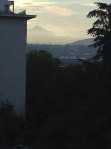 Bedroom window out toward Mt Blanc - seems like a while ago!