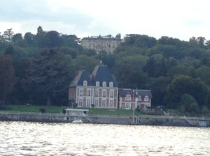 The Rothschilds Chateau on the hill.